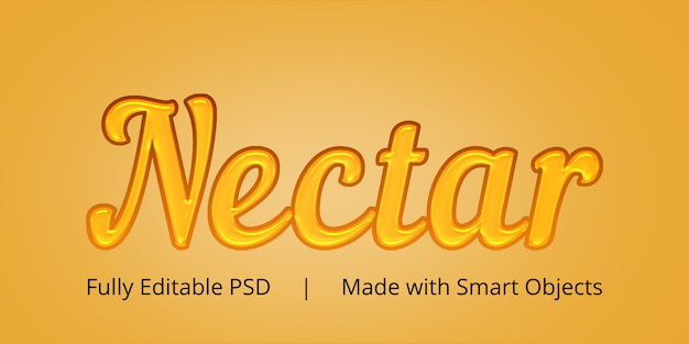 Nectar text style effect