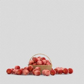 Nectarine 3d render