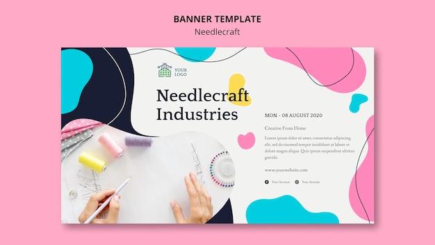 Дизайн шаблона баннера needlecraft