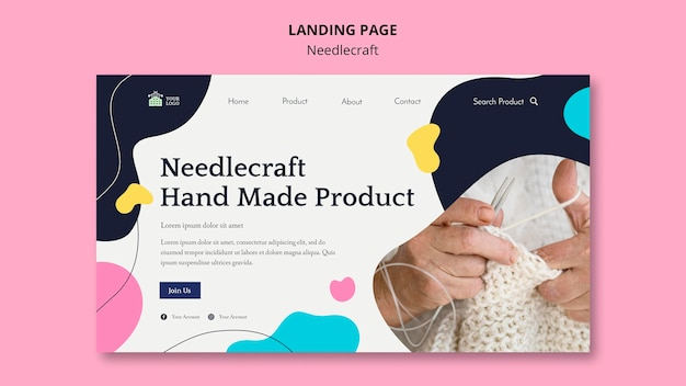 Needlecraft landing page