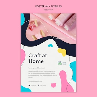 Needlecraft poster template design