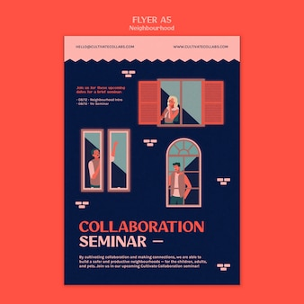 Neighborhood seminar print template