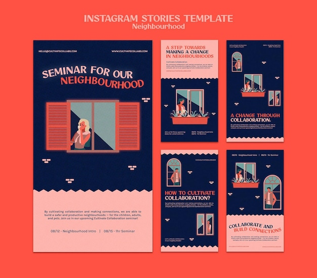 Neighborhood seminar social media stories