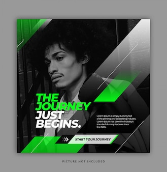 Neon black white instagram social media template