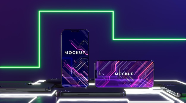 Neon device concept mock-up