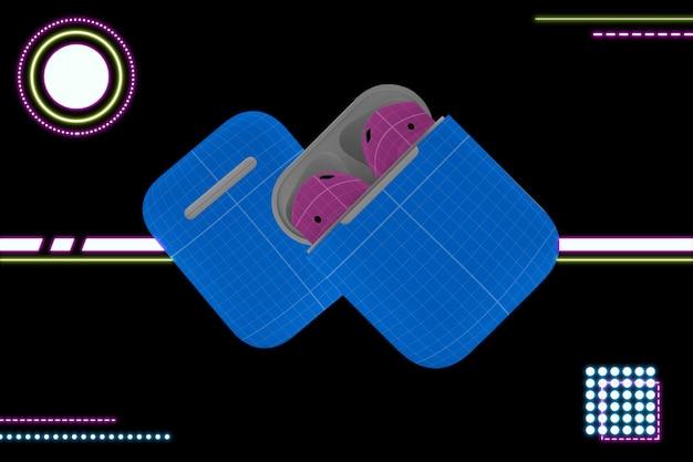 Neon earphone mockup v.2