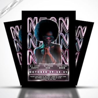 Neon flyer party