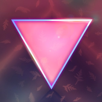 Neon glowing triangle frame design