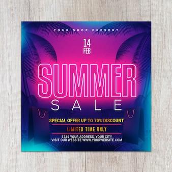 Neon gold summer flyer