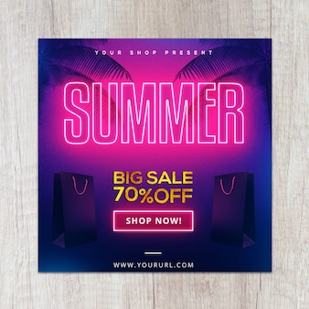 Neon gold summer flyer