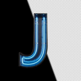 Неоновая световая буква j