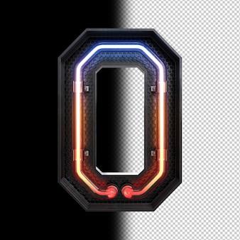 Неоновая световая буква o