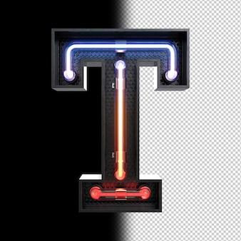 Неоновая световая буква t