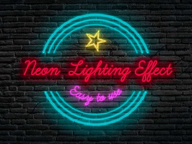 Neon lighting effect in photoshop