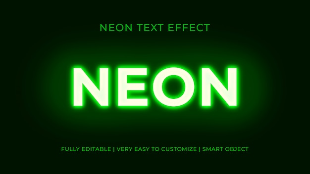 Neon lights text effect