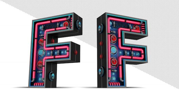 Неоновая вывеска в форме буквы f