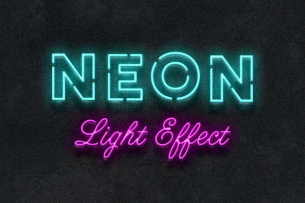 Neon sign text effect