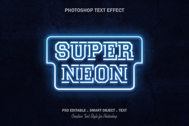 Неоновый текстовый эффект шаблон дизайна
