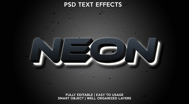 Neon text effect template