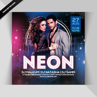 Neonparty flyer