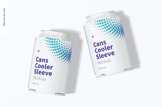 Neoprene 355 ml can cooler sleeve mockup, top view