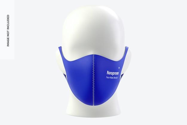 Neoprene guard face mask mockup
