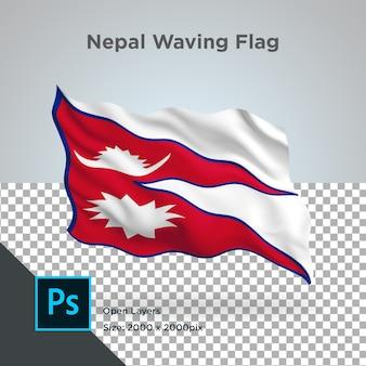 透明なネパールの旗の波のデザイン
