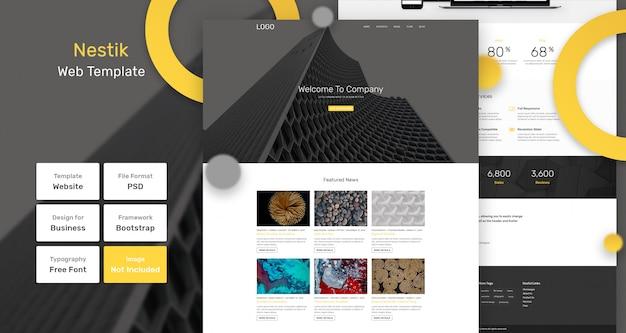 Веб-шаблон nestik для бизнеса и агентства