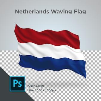 透明なオランダの旗の波のデザイン