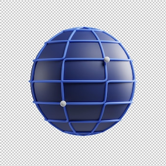 Network icon 3d illustration