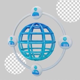 Концепция сети 3d иллюстрация