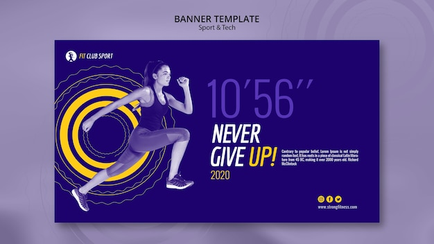 Never give up banner template