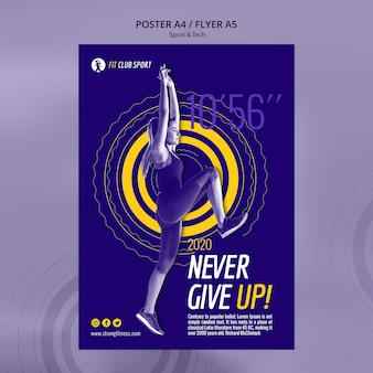 Never give up modern ad