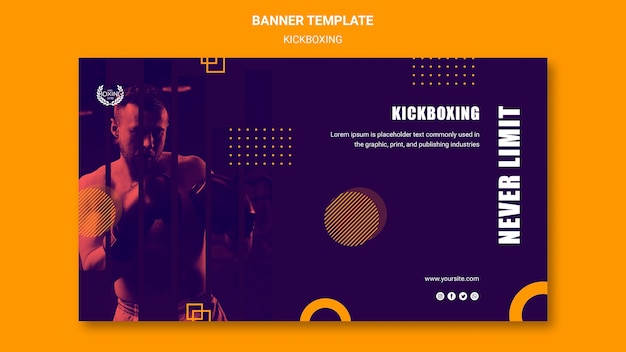 Never limit yourself kickboxing banner template