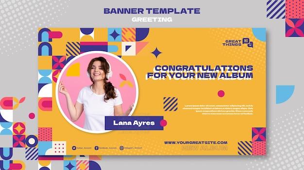 Nuovo modello di banner di congratulazioni per album