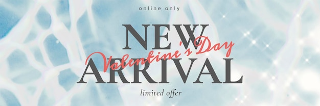 New arrival editable template psd for shop email header