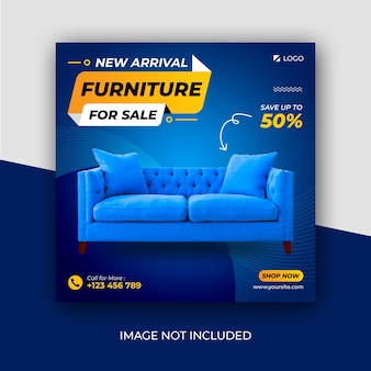 New arrival exclusive furniture social media instagram post