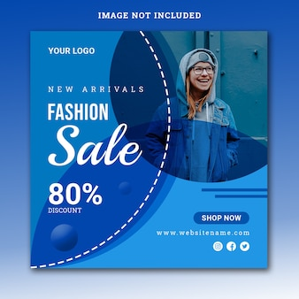 New arrival fashion sale instagram post template