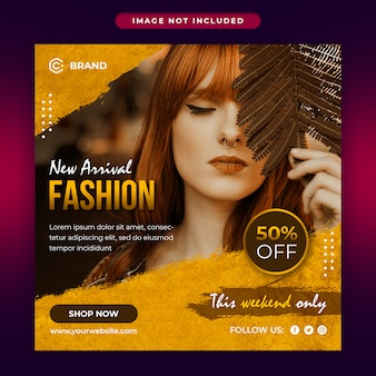 새로운 도착 패션 판매 소셜 미디어 및 웹 배너 템플릿