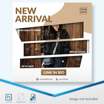 New arrival fashion sale social media post template
