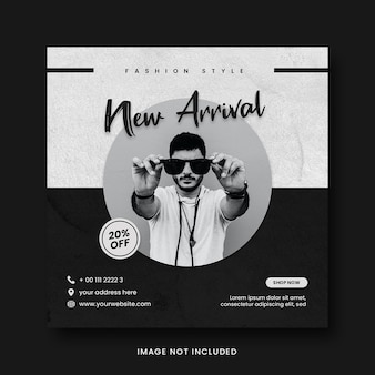 New arrival fashion style promotion social media instagram post banner template