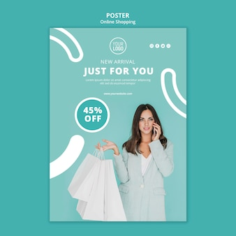New arrival just for you poster template