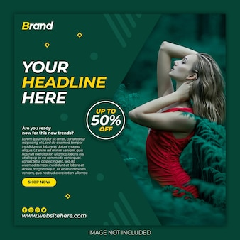 New arrival mega sale instagram social media banner template premium psd