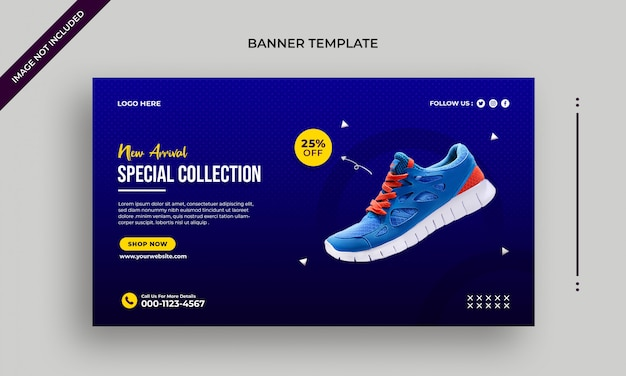 New arrival shoes web banner