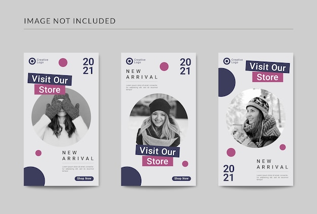 New arrival social media stories post template