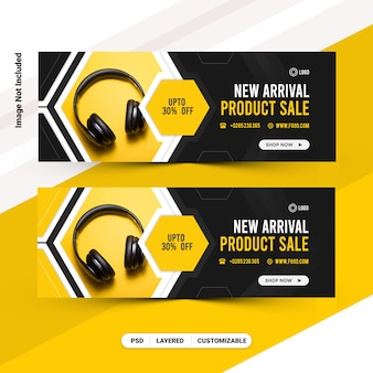 New arrival social media web banner facebook cover template design