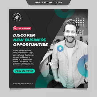 New business opportunities social media post template