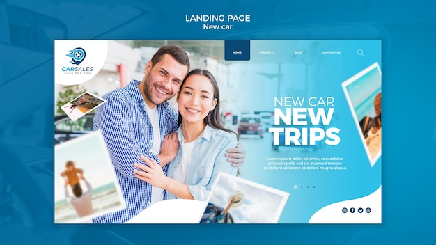 New car concept landing page template