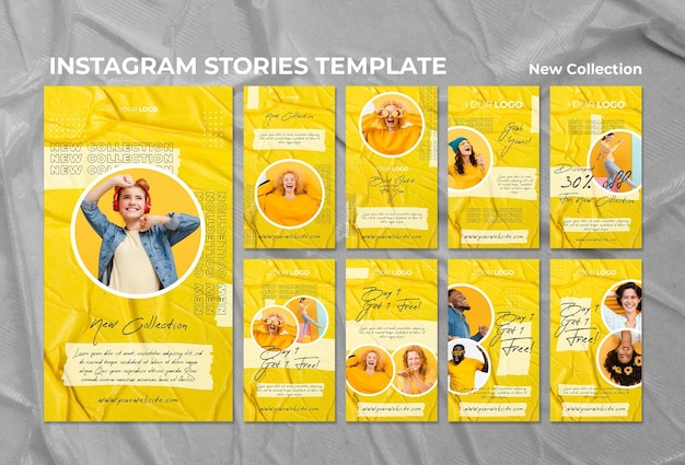 New collection concept instagram stories template