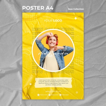 New collection concept poster template